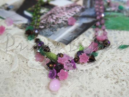 Necklace Printenier Clématite クレマチスの花をかたどったネックレス